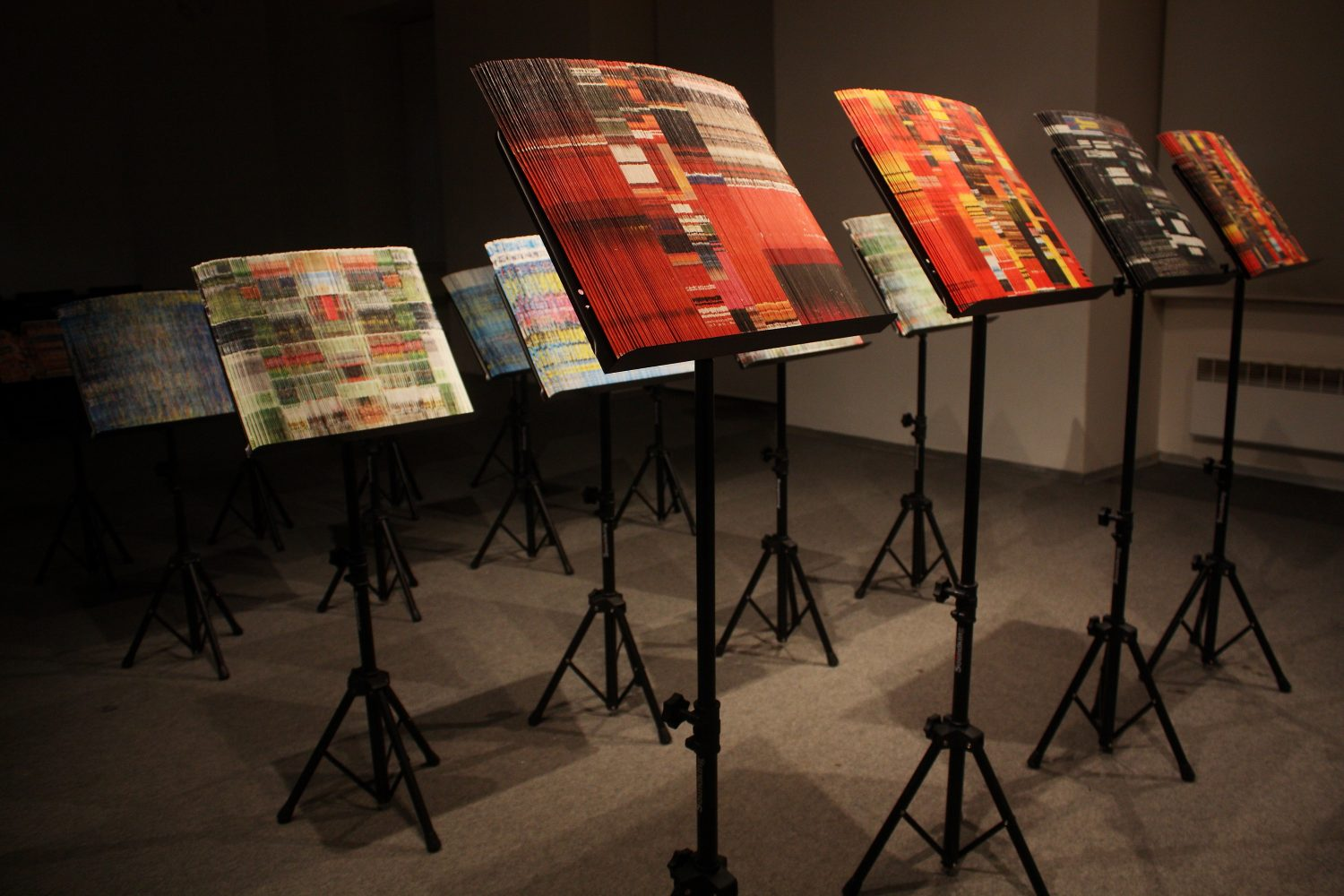 Scores of consumer compositions, site specific installation, 2014 (photo by Miroslav Brooš)