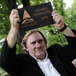 Actor's Mission Award at the AFF took over in 2010 Gérard Depardieu (photo by Eduard Genserek, ART FILM FEST)