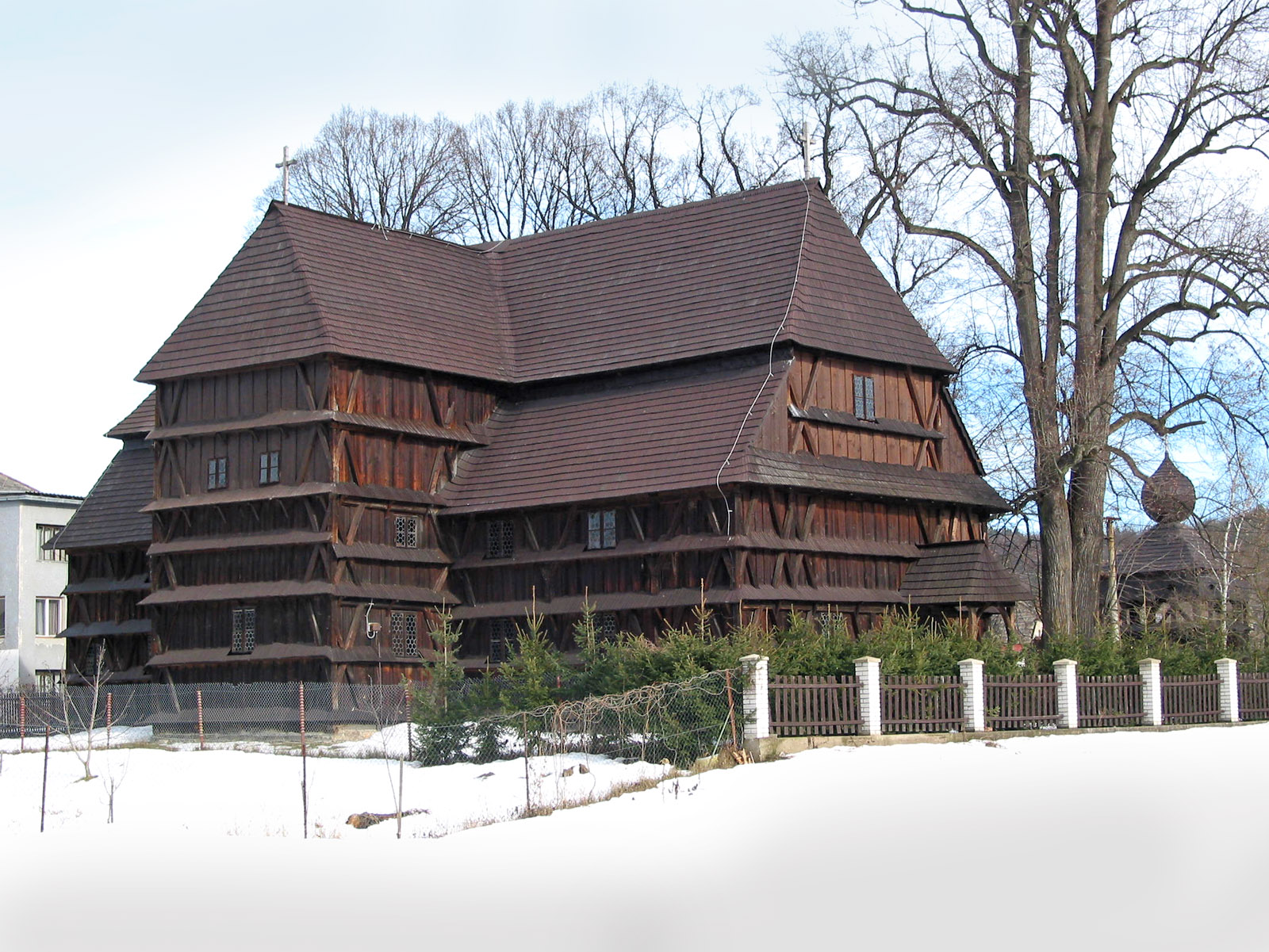 Evangelical´Articled´Wooden Church at Hronsek (Monuments Board of the SR Archives, photo by Peter Fratrič)
