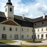 Courtyard of manor house in St. Anton (Monuments Board of the SR Archive, photo by Peter Fratrič)