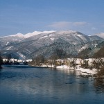 Small Fatra mountains and Váh river, view from Stankovany, Great Fatra mountains (photo by Peter Fenďa)