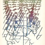 Daniel Fischer: Visual poem. Tribute to G.Apollinaire, 1985 (source by Slovak National Gallery, http://www.webumenia.sk/dielo/SVK:SNG.G_12643)