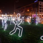 White Night Festival - an installation, Bratislava Castle (photo by Robert Tappert)