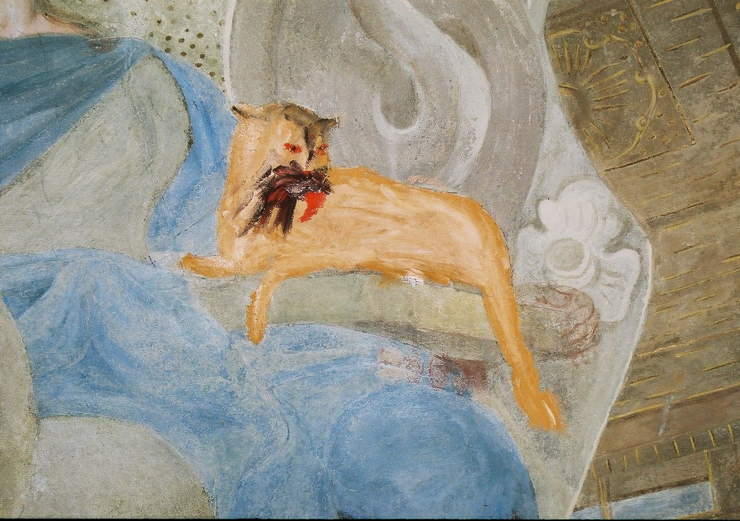 St. Martin's Cathedral, Bratislava, wall painting in the chapel of St. John the Almoner, a detail before restoration (photo by Miroslav Šurin)