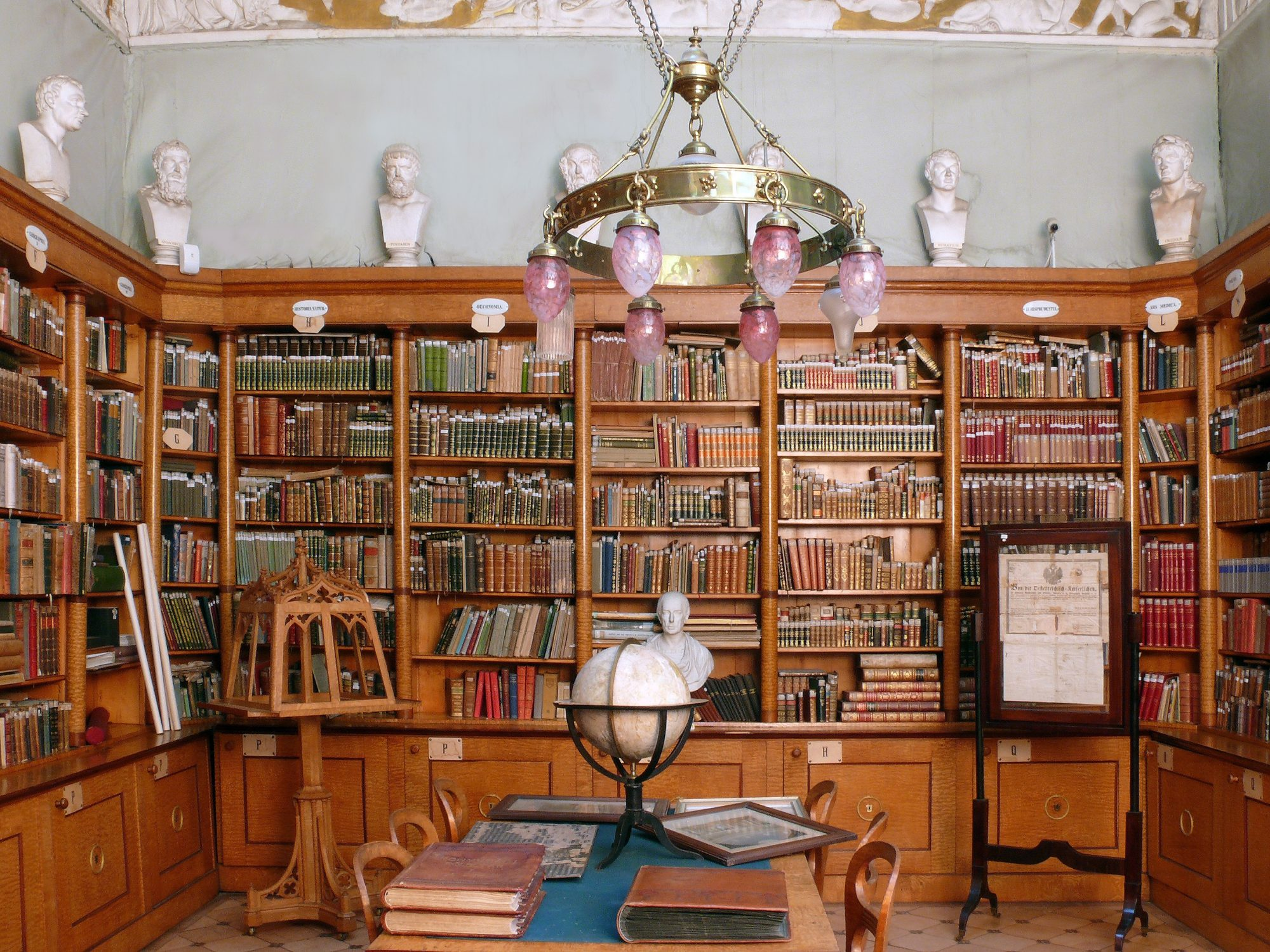 Chateau Topoľčianky - a library (photo by Peter Fratrič)