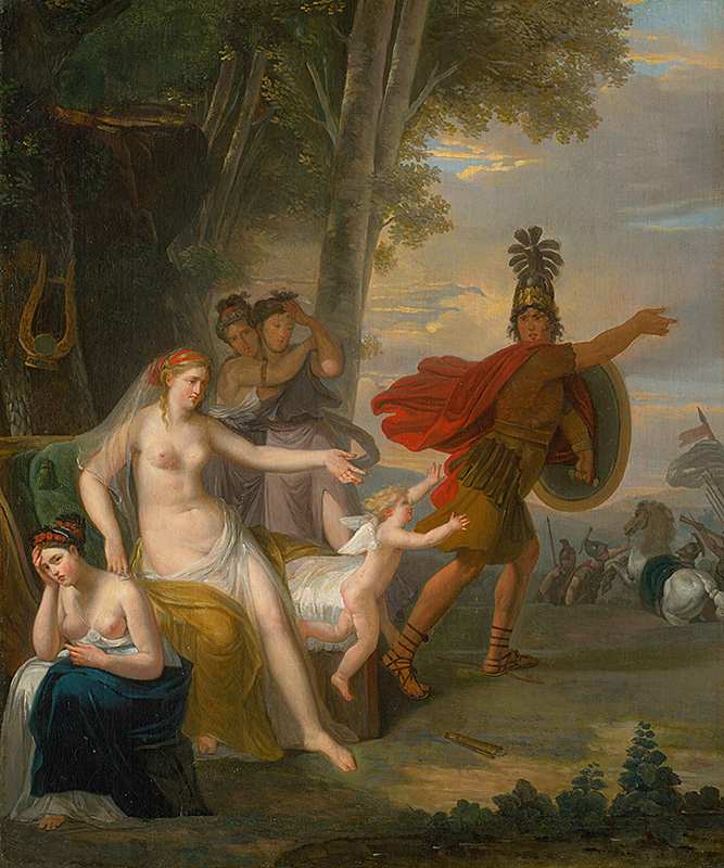 Adam Friedrich Oeser: Farewell of Hector with Andromache, 1760–1780 (source by The Slovak National Gallery Collections, http://www.webumenia.sk/dielo/SVK:SNG.O_274)