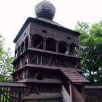 Hronsek wooden church bell tower (photo by Ľubica Pinčíková)