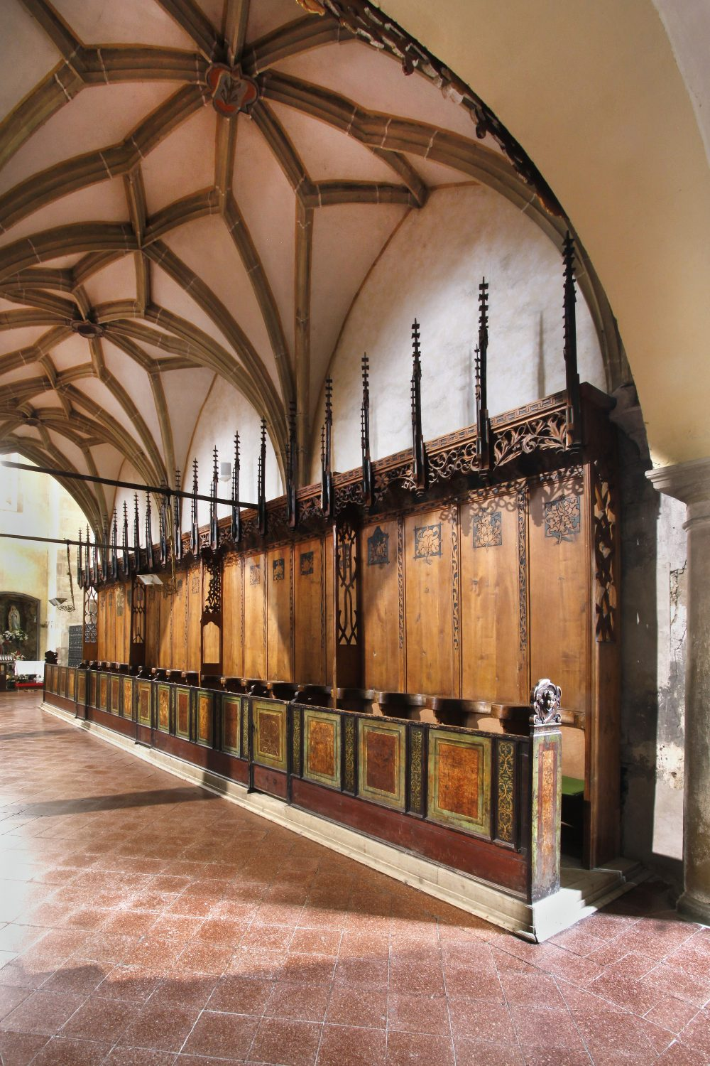 St. Jacob's Cathedral – patronal bench, Levoča (photo by Peter Fratrič)