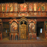 Greek Catholic Wooden Church of St Michael the Archangel, Humenné, interior (photo by Peter Fratrič)