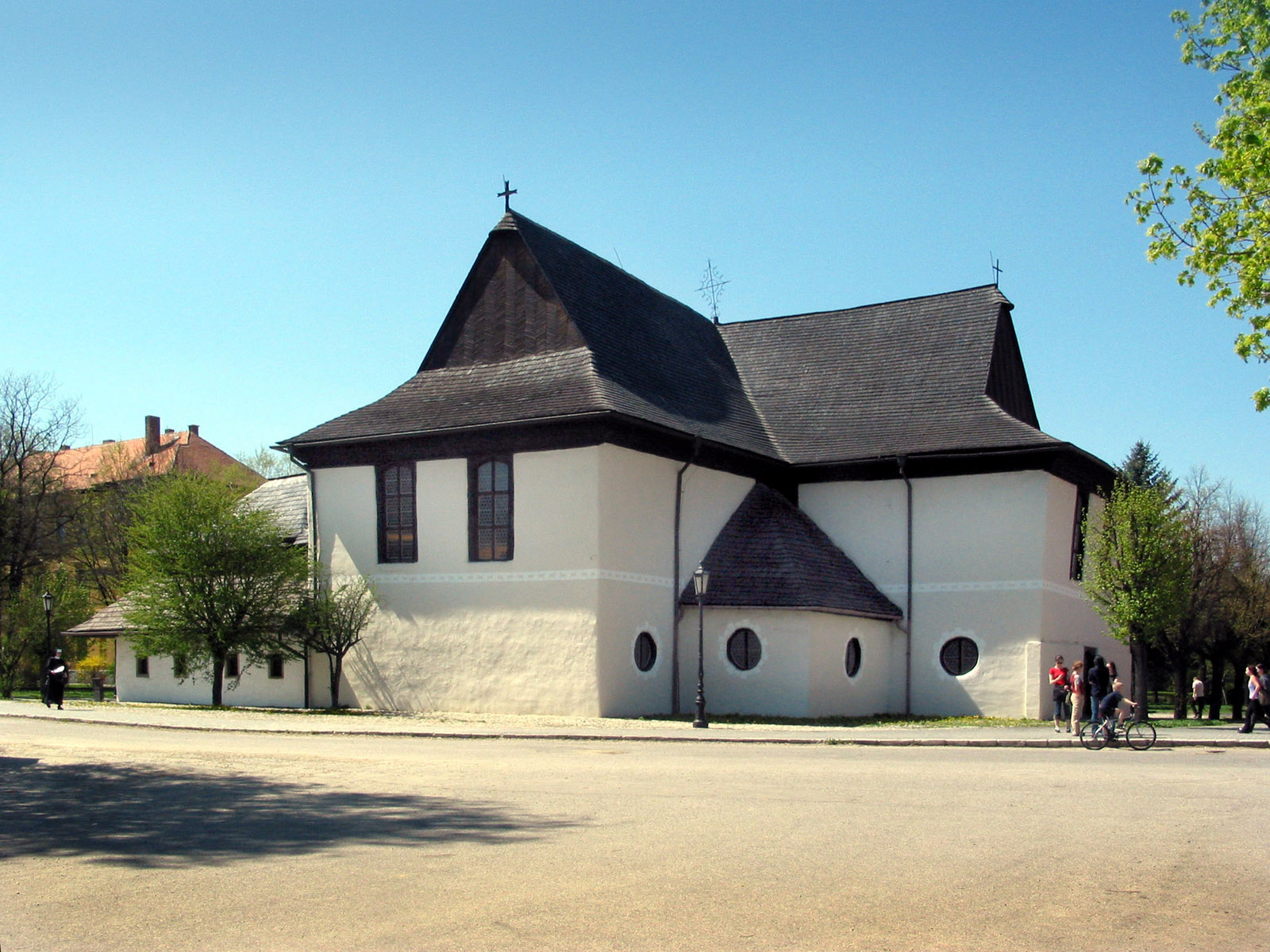 Evangelical 'Articled' Wooden Church at Kežmarok (Monuments Board of the SR Archive, photo by Peter Fratrič)
