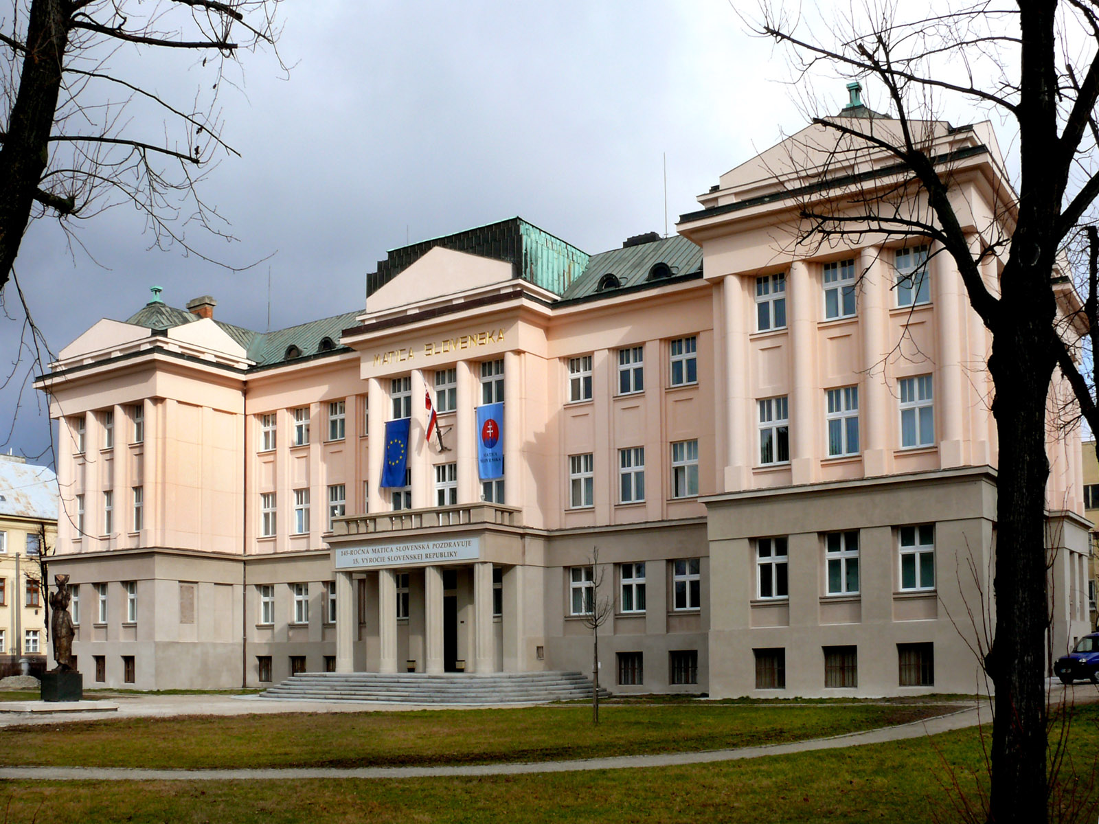 The second historical building and current seat of Matica slovenská, Martin, 1924 – 1926 (photo by Peter Fratrič)