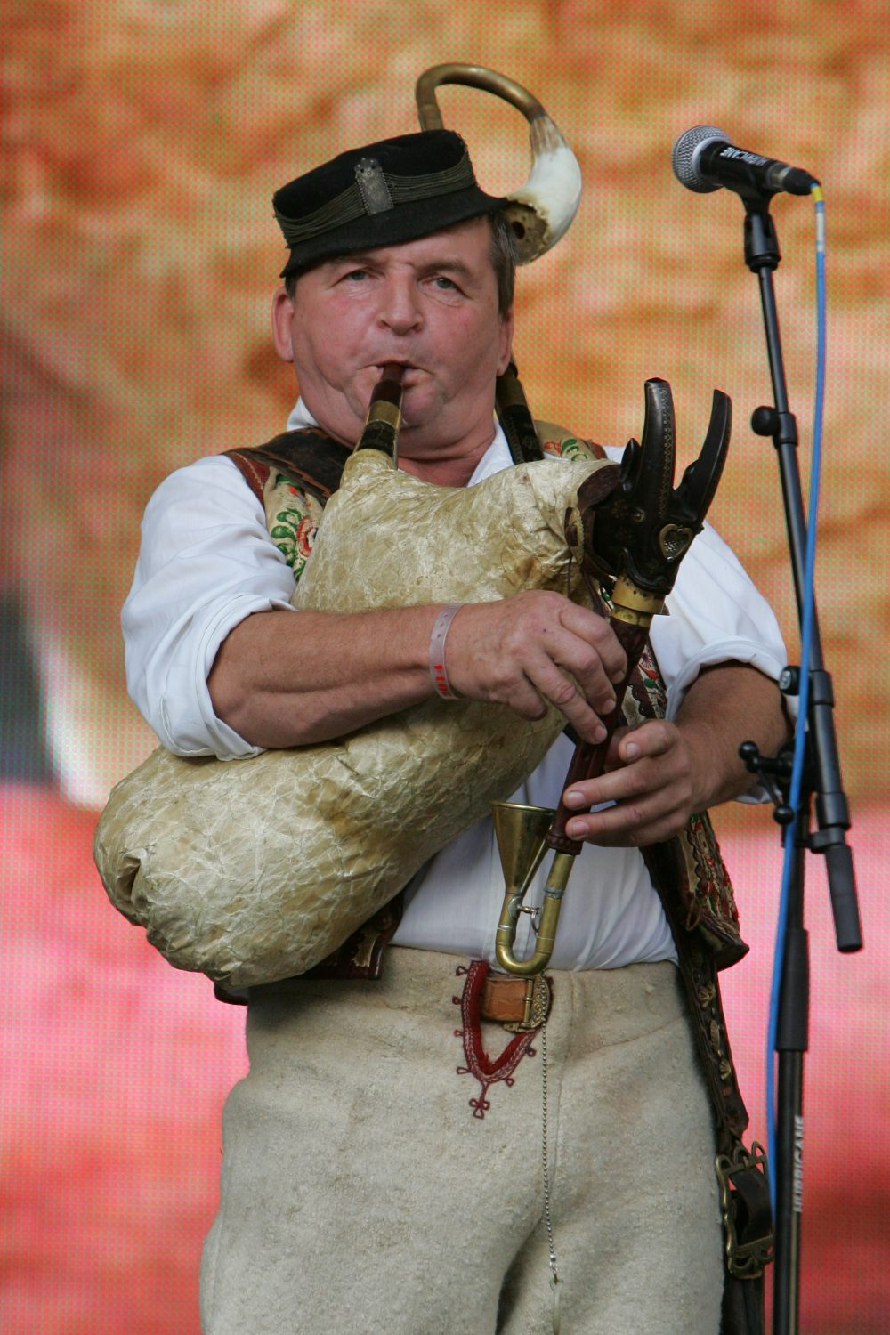 Many folk singers and instrumentalists complete the atmosphere of the festival (photo by Centre for Folk Art Production)