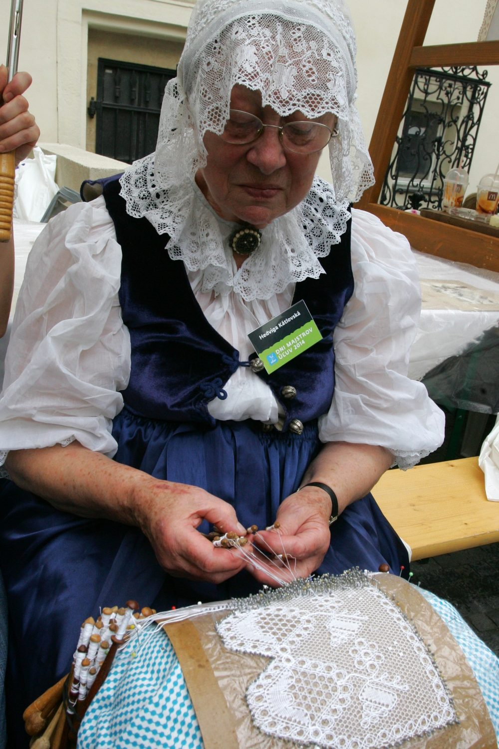 Producer of bobbin lace – Hedviga Kátlovská is one of seven producers who obtained the title of Master of Folk Art Production in 2015 (photo by Centre for Folk Art Production)