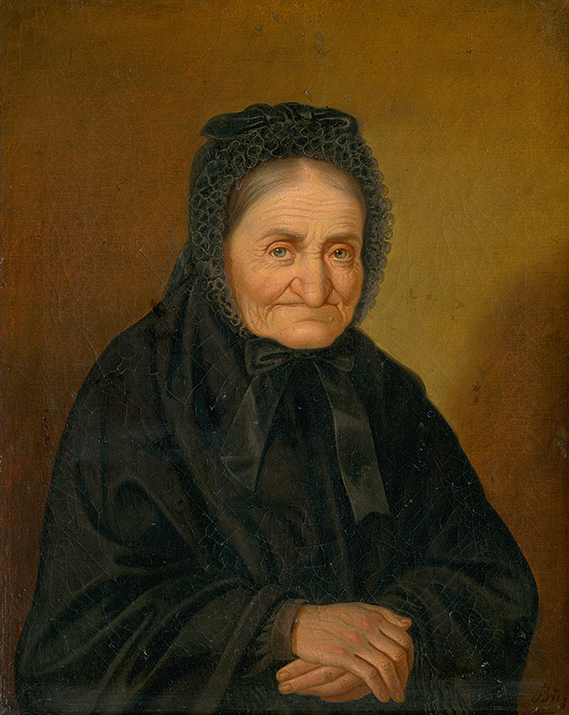 Peter Michal Bohúň: Portrait of an old woman, 1860-1870 (source by Stanislav Veselovský, The Slovak National Gallery Collections, http://www.webumenia.sk/dielo/SVK:SNG.O_5298)
