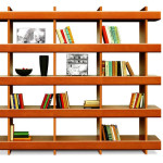 "Bookcase ""Horizont"", Ivan Čobej design, produced by Brik a. s. Kremnica, 2006 (photo by Slovak Design Centre Archive)"