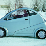 Lightweight electric car, Štefan Klein design, prototype for WUSAM Zvolen, 1998 (photo by Slovak Design Centre Archive)