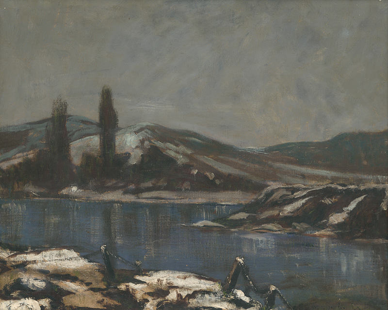 Landscape Považie, Ladislav Mednyánszky, around 1910 (photo by Ernest Zmeták Gallery of Arts)