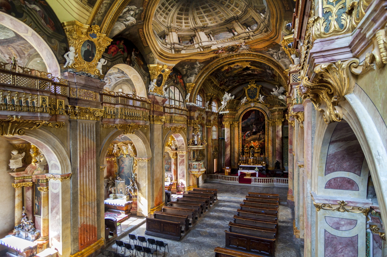 Interior of Piarist Church of St. Francis Xavier in Trenčín (photo by Daniel Veselský)