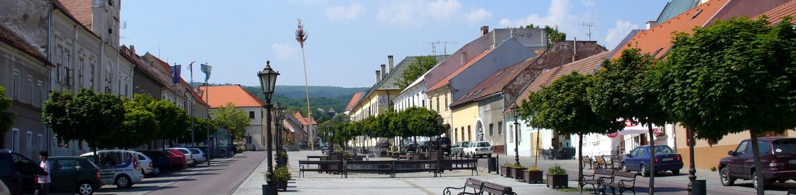 Pedestrian zone, Svätý Jur (photo by Peter Straka)