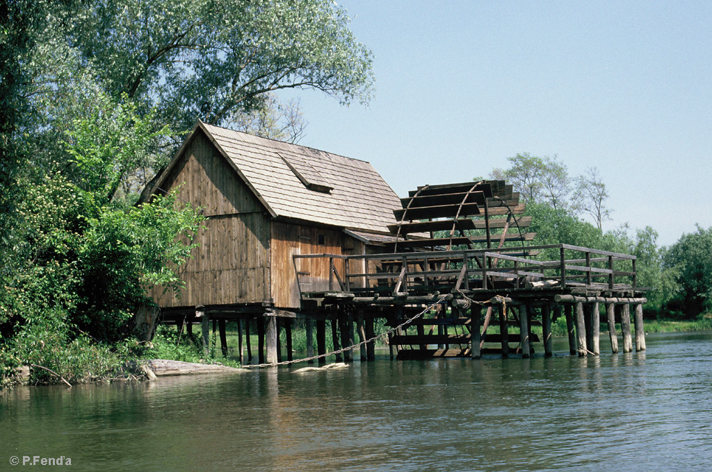 Water wheel mill by Ján Maticza on the Small Danube at Tomášikovo, Podunajsko (photo by Peter Fenďa)