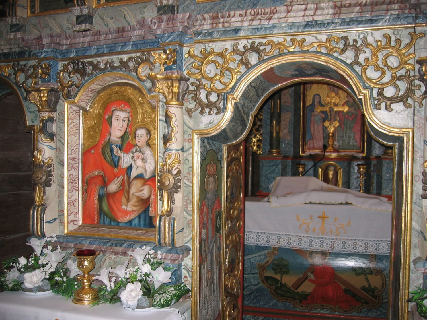 Greek Catholic Church of St. Nicholas, Icon of the Mother of God with Jesus, Bodružal (photo by Mária Laurincová)
