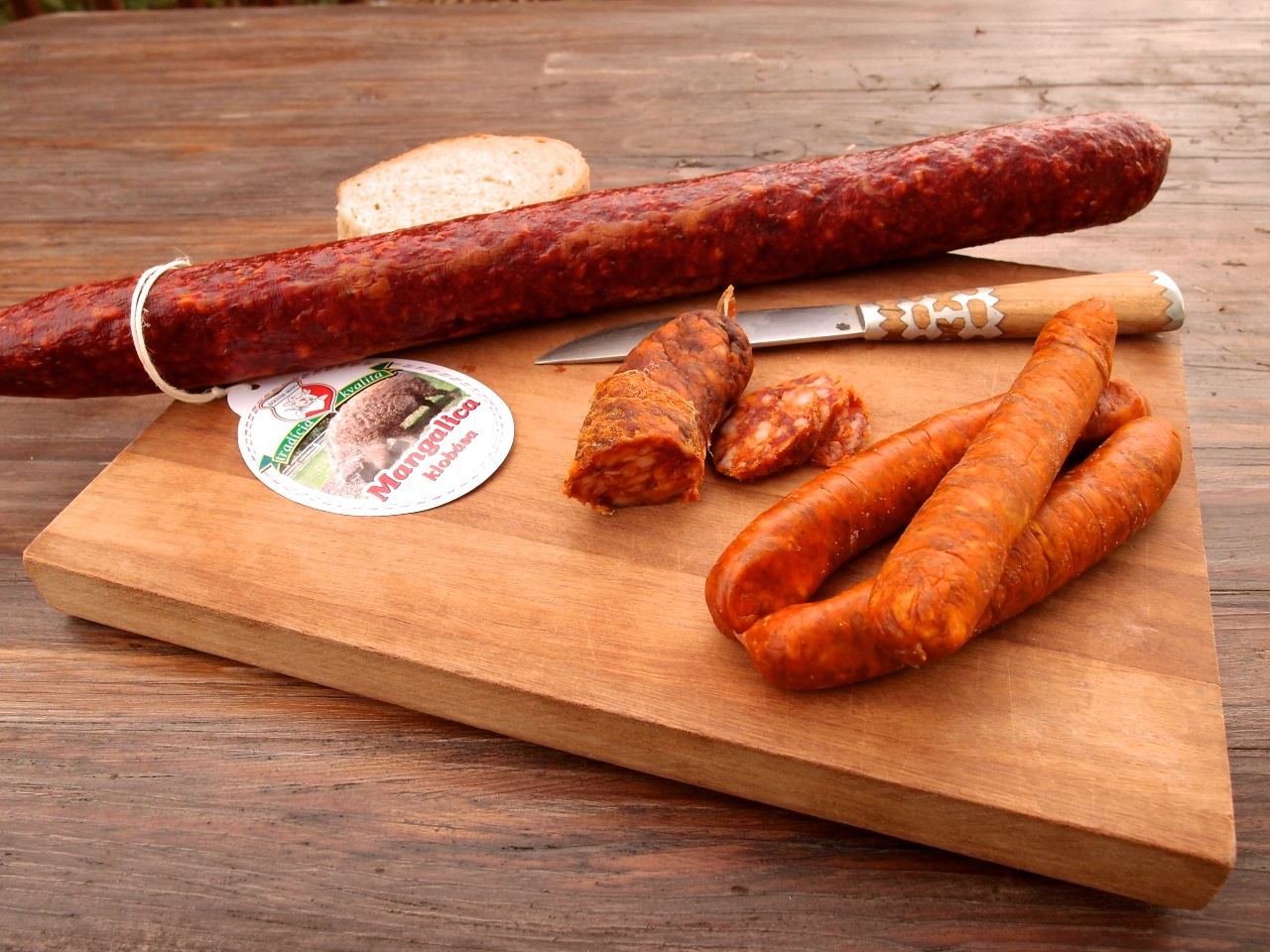 Meat specialties - sausages (photo by Viktor Klimo)
