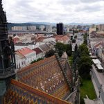 Košice – Main Street, view from tower (photo by Peter Straka)