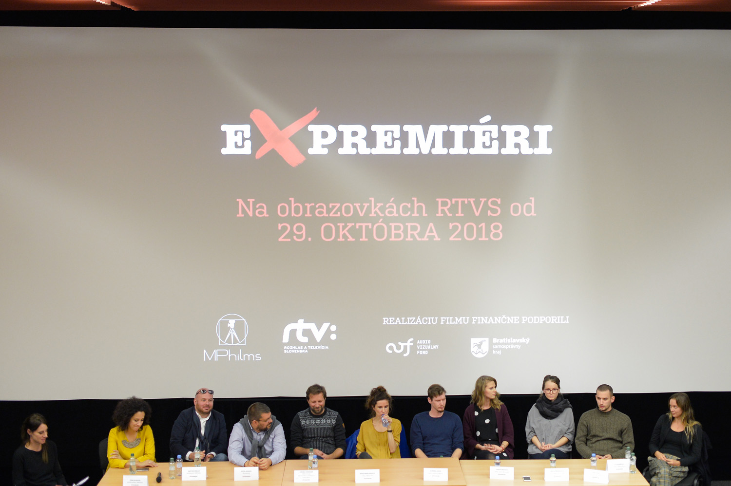 """Presentation of the documentary cycle """"Expremiers"""" (photo by Robert Tappert)"""