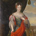 Central European painter: Alžbeta Althanová, born Daun, first half 18th century, oil painting on canvas (source: Slovak National Museum - Červený Kameň Castle))