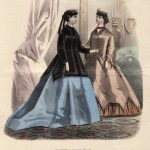 Color fashion sheet, unmarked, 1852 (source: Slovak National Museum - Historical Museum)