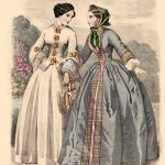 Colored fashion sheet, unmarked, 1852 (source: archive of the Slovak National Museum- Historical Museum)