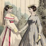 Colored fashion sheet, Divatkép, 1867, (source: archive of the Slovak National Museum - Historical Museum)
