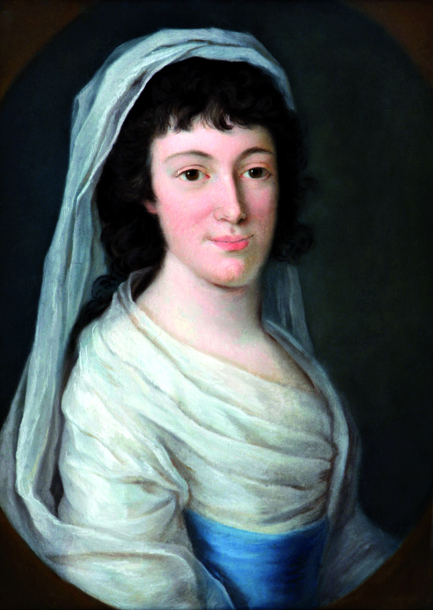 Lady of the Friesenhof family, around 1800, pastel on paper (source: Slovak National Museum – Historical Museum)