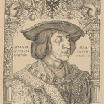 Albrecht Dürer: Portrait of Emperor Maximilian I., 1518 – 1519 (woodcarving), print by woodcarving on paper (source: City Gallery of Bratislava)