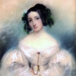 Unknown author: Lady in white, around 1820/1830, gouache on paper (source: Slovak National Museum - Historical Museum)