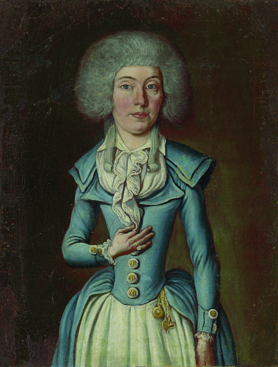 Central European painter: Portrait of an unknown lady, 1785 -1800, oil on canvas (source: Bratislava City Gallery)