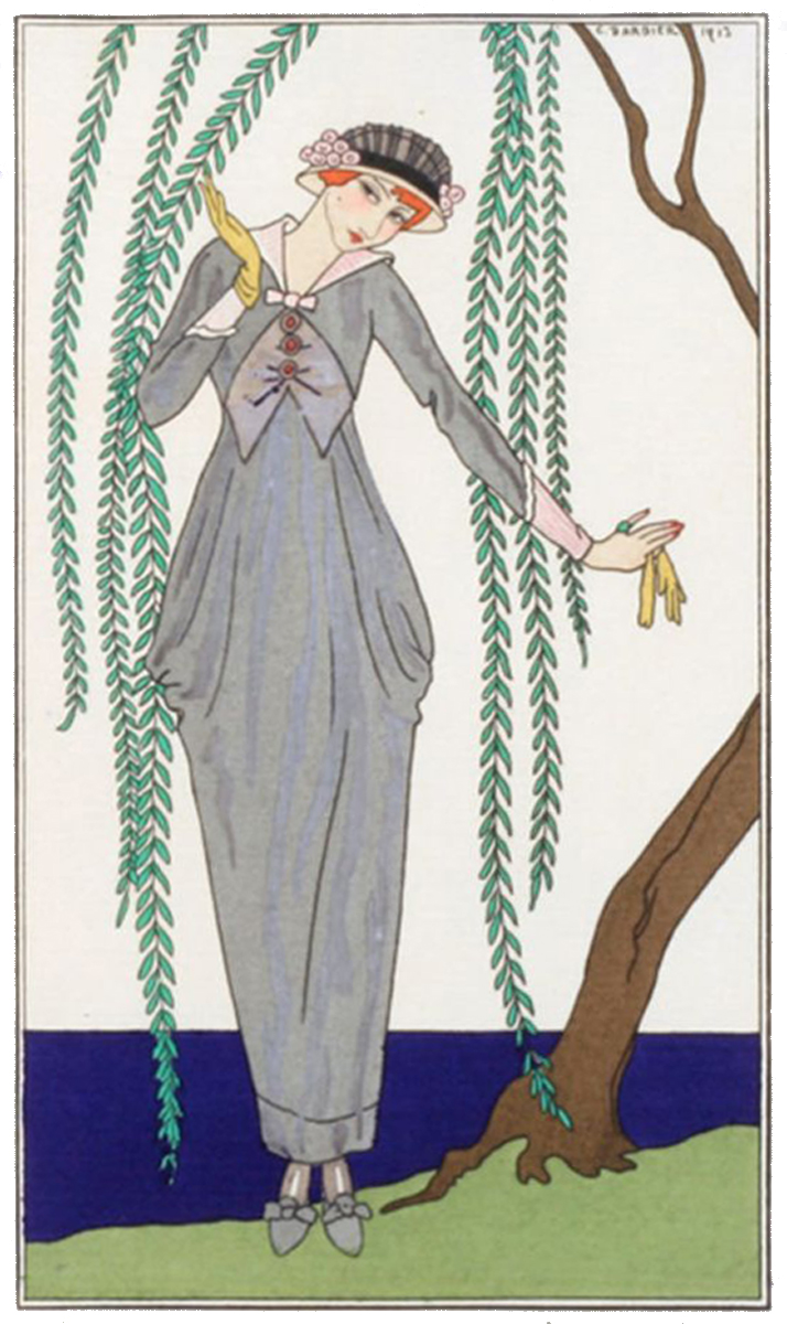 Fashion drawing, Costumes Parisiens, 1913, 91 (source: photo archive of Eva Hasalová)