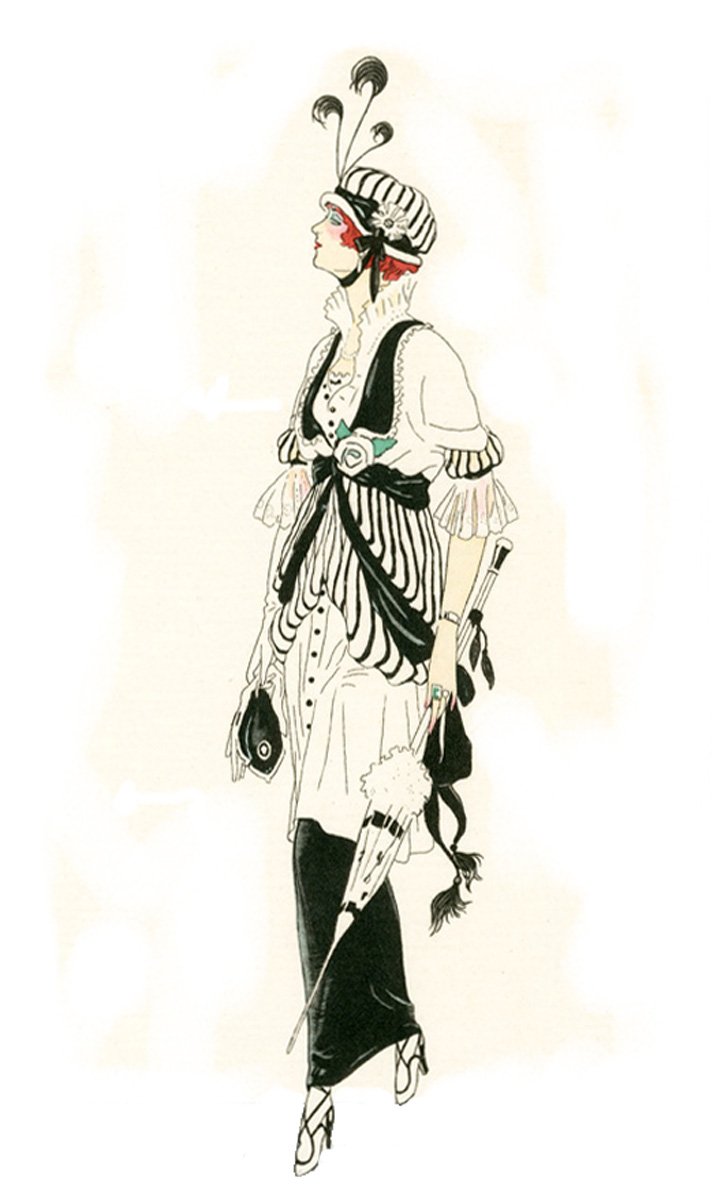 Fashion drawing, Costumes Parisiens, 1913, 93 (source: photo archive of Eva Hasalová)