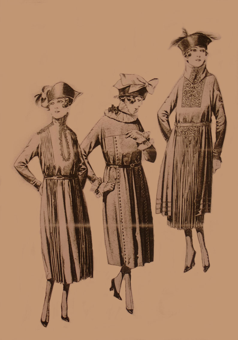 Clothing documentation, fashion drawing, unmarked (source: archive of the Slovak National Museum - Historical Museum)
